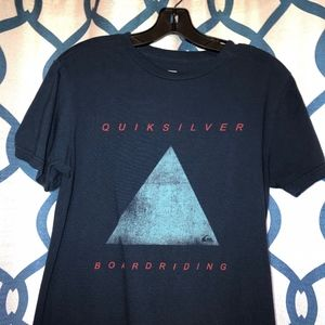 Quiksilver Men's Blue Triangle Boardriding T-Shirt